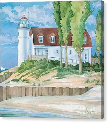 Pt. Betsie Lighthouse Canvas Print by Paul Brent