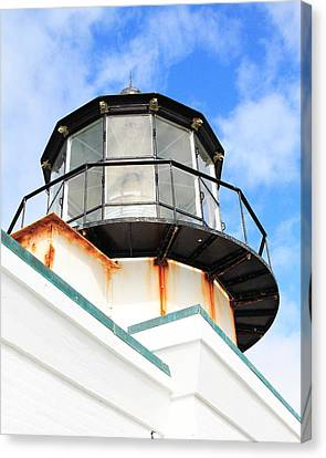 Pt Bonitas Lighthouse Ca Canvas Print by Wingsdomain Art and Photography