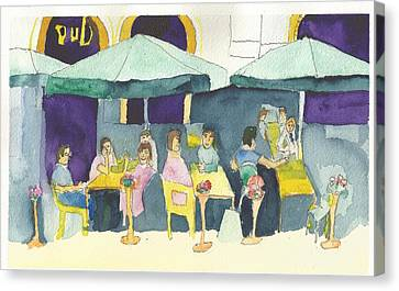 Pub In Harry Hjornes Plats Canvas Print
