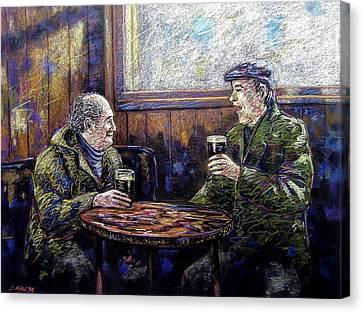Pub Parlance Canvas Print by John  Nolan