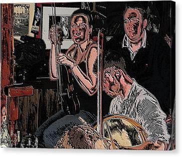 Pub Scene Three Canvas Print by Dave Luebbert