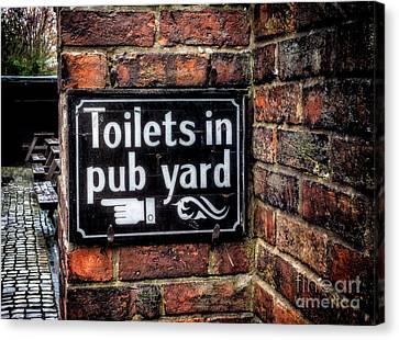 Pub Sign Canvas Print by Adrian Evans