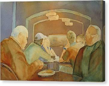 Pub Talk II Canvas Print by Jenny Armitage