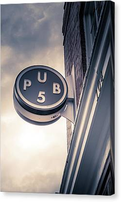 Downtown Nashville Canvas Print - Pub5 by Art Spectrum