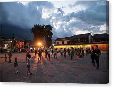 Canvas Print featuring the photograph Public Dancing by Wade Aiken