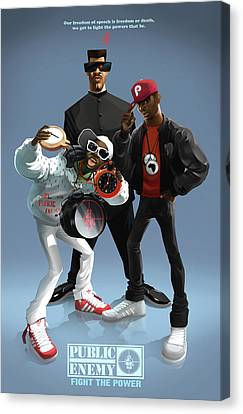Public Enemy Canvas Print by Nelson Garcia