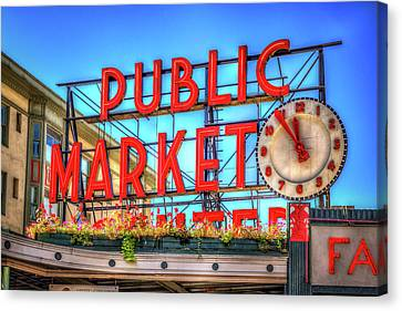 Canvas Print featuring the photograph Public Market At Noon by Spencer McDonald
