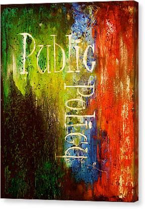 Legal Term Canvas Print - Public Policy by Laura Pierre-Louis