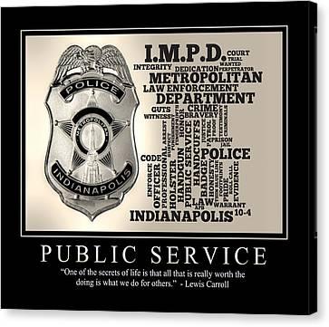 Public Service 2 Canvas Print by Dave Lee