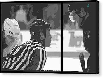 Puck Drop Canvas Print by Lucas Armstrong