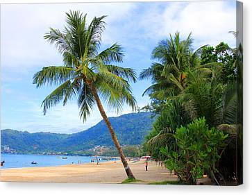 Phuket Patong Beach Canvas Print by Mark Ashkenazi