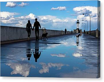 Puddle-licious Canvas Print by Mary Amerman
