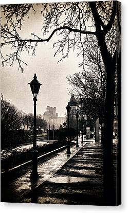 Puddles Of Light.. Canvas Print by Russell Styles