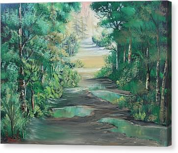 Puddles Canvas Print