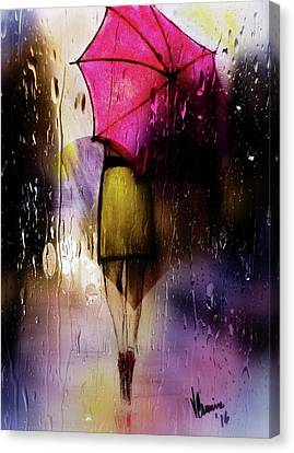 Stormy Weather Canvas Print - Puddles by Vernon Crumrine