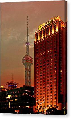 Pudong Shanghai - First City Of The 21st Century Canvas Print by Christine Till