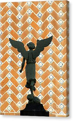 Canvas Print featuring the photograph Puebla Angel Mexico by John  Mitchell