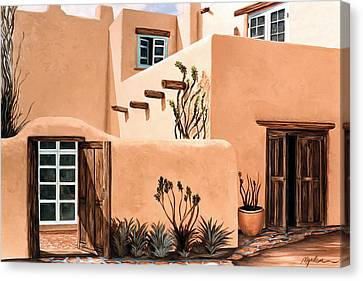 Still, In The Southwest Canvas Print by Mary Grden Fine Art Oil Painter Baywood Gallery