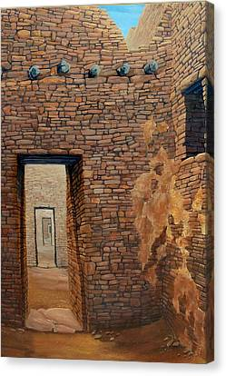 Pueblo Bonito Canvas Print by Michael Cranford