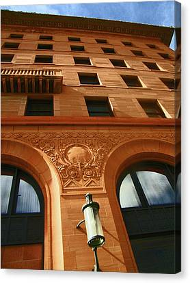 Pueblo Downtown Thatcher Building 2 Canvas Print by Lenore Senior
