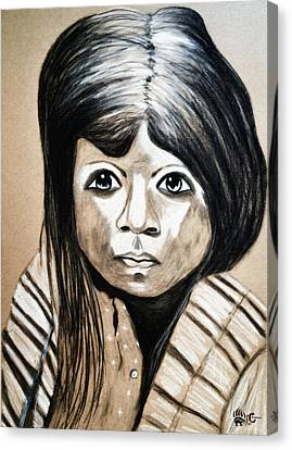 Pueblo Girl Canvas Print by Ayasha Loya