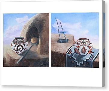 Pueblo Pots Canvas Print by Jerry McElroy