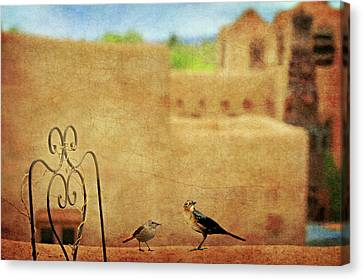 Pueblo Village Settlers Canvas Print