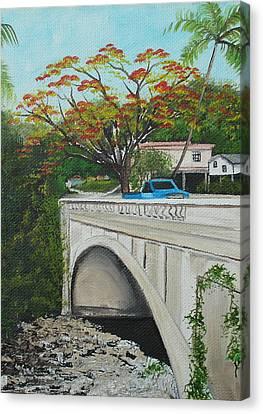 Puente En Adjuntas Canvas Print by Gloria E Barreto-Rodriguez