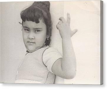 Puerto Rican-american Girl 1964 Canvas Print by WaLdEmAr BoRrErO