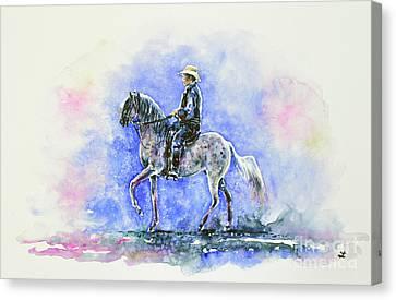 Puerto Rican Paso Fino Rider Canvas Print by Zaira Dzhaubaeva