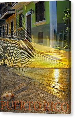 Puerto Rico Collage 3 Canvas Print by Stephen Anderson