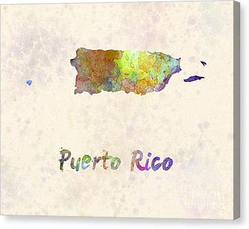 Puerto Rico  In Watercolor Canvas Print by Pablo Romero