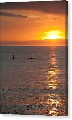 Ocean Canvas Print - Puerto Vallarta Sunset by Sebastian Musial
