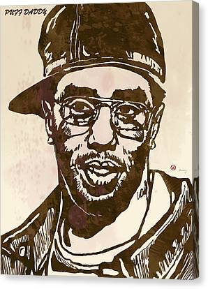 Puff Daddy Pop Stylised Art Sketch Poster Canvas Print
