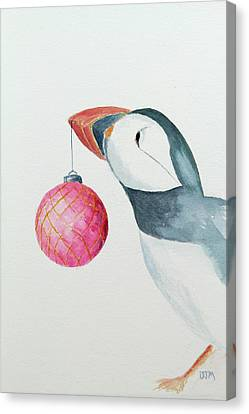 Puffin's First Christmas Canvas Print by Doug Moore