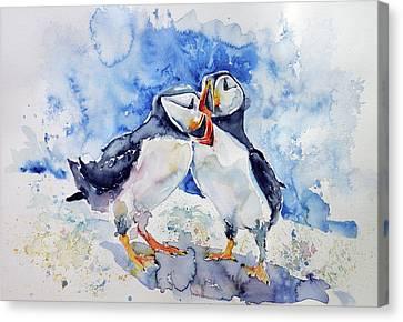 Puffin Canvas Print - Puffins by Kovacs Anna Brigitta