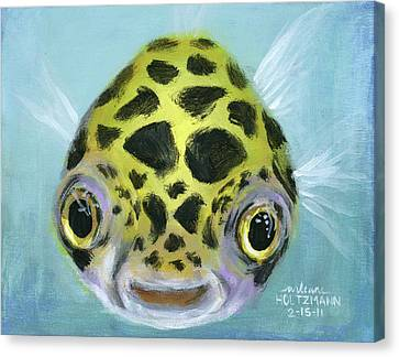 Fish Canvas Print - Puffy by Arleana Holtzmann