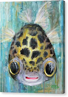 Puffy Underwater Canvas Print by Arleana Holtzmann