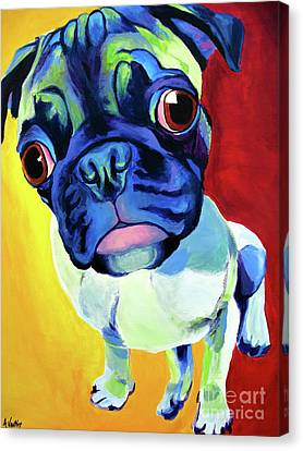 Pug - Lola Canvas Print by Alicia VanNoy Call