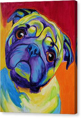 Pug - Lyle Canvas Print by Alicia VanNoy Call
