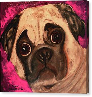 Pug - Chloe Canvas Print