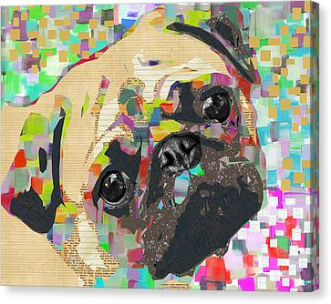 Pug Collage Canvas Print