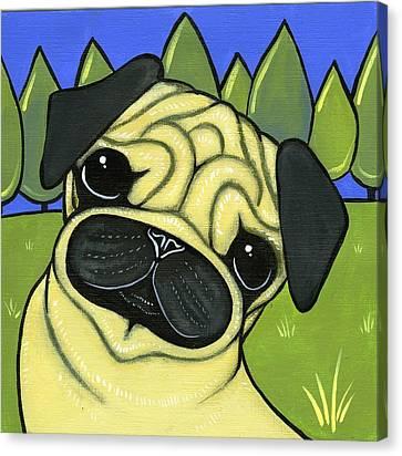 Pug Canvas Print by Leanne Wilkes