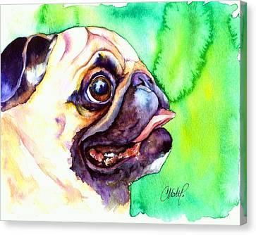 Pug Profile Canvas Print by Christy  Freeman