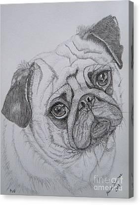 Pug Canvas Print by Yvonne Johnstone