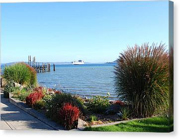 Canvas Print featuring the photograph Puget Sound by Sergey and Svetlana Nassyrov