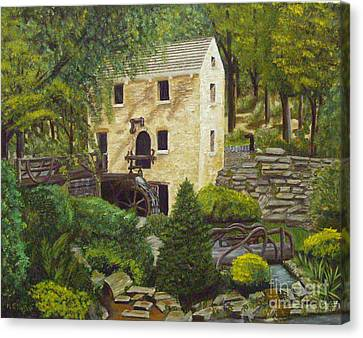 The Old Mill At T R Pugh Memorial Park Canvas Print