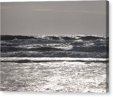 Canvas Print featuring the photograph Puissance Oceane by Marc Philippe Joly
