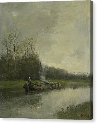 Pull Speed Canvas Print by Anton Mauve