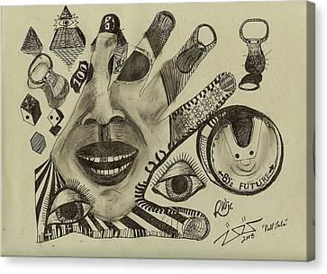 Pull Tabs Canvas Print by Robert Wolverton Jr